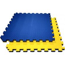 Будо-маты KIDMAT 100*100*2 см двусторонние сине-желтые BM100*2JYB