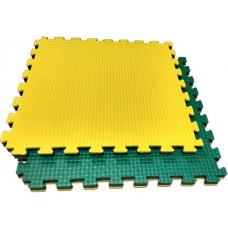 Будо-маты KIDMAT 100*100*2 см двусторонние желто-зеленые BM100*2JYG