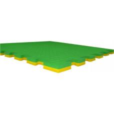 Будо-маты EC 100*100*2 см двусторонние желто-зеленые