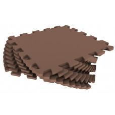 Мягкий пол универсальный Eco-Cover 33х33 см 9 мм коричневый 9 деталей