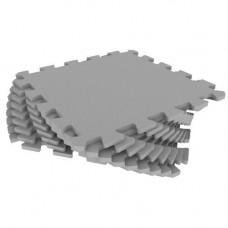 Мягкий пол универсальный Eco-Cover 33х33 см 9 мм серый 9 деталей