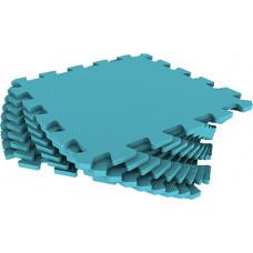 Мягкий пол универсальный Eco-Cover 33х33 см 9 мм голубой 9 деталей