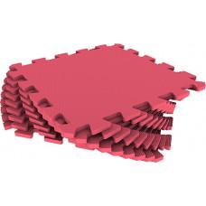 Мягкий пол универсальный Eco-Cover 33х33 см 9 мм красный 9 деталей