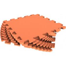 Мягкий пол универсальный Eco-Cover 33х33 см 9 мм оранжевый 9 деталей