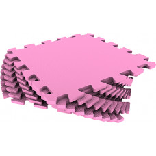 Мягкий пол универсальный Eco-Cover 33х33 см 9 мм розовый 9 деталей