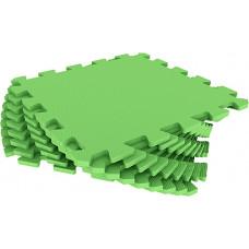 Мягкий пол универсальный Eco-Cover 33х33 см 9 мм салатовый 9 деталей
