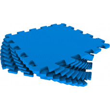 Мягкий пол универсальный Eco-Cover 33х33 см 9 мм синий 9 деталей