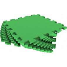 Мягкий пол универсальный Eco-Cover 33х33 см 9 мм зеленый 9 деталей