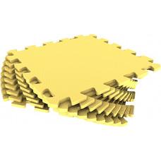 Мягкий пол универсальный Eco-Cover 33х33 см 9 мм желтый 9 деталей