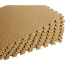 Мягкий пол универсальный 60*60 см 10 мм бежевый 4 шт