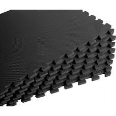 Мягкий пол универсальный 60*60 см 10 мм черный 4 шт