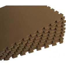 Мягкий пол универсальный 60*60 см 10 мм коричневый 4 шт