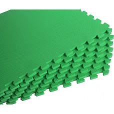 Мягкий пол универсальный 60*60 см 10 мм зеленый 4 шт