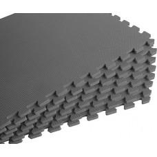 Мягкий пол универсальный 60*60 см 10 мм серый 4 шт