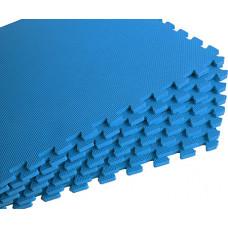 Мягкий пол универсальный 60*60 см 10 мм синий 4 шт