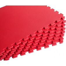 Мягкий пол универсальный 60*60 см 10 мм красный 4 шт