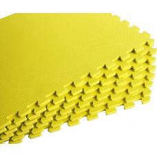 Мягкий пол универсальный 60*60 см 10 мм желтый 4 шт