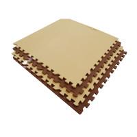 Мягкий пол универсальный 60*60 см 10 мм бежево-коричневый 4 шт