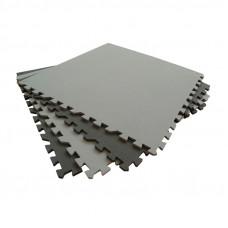 Мягкий пол универсальный 60*60 см 10 мм черно-серый 4 шт