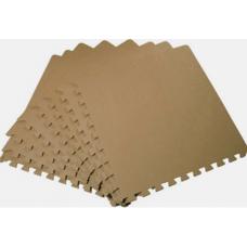 Мягкий пол универсальный 50*50 см 14 мм коричневый 4 шт