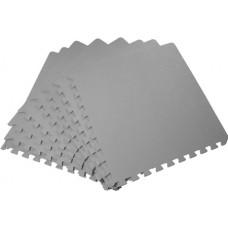 Мягкий пол универсальный 50*50 см 14 мм серый 4 шт
