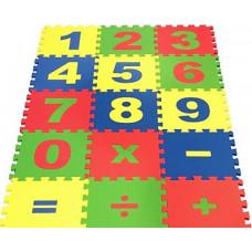 Набор мягких плиток коврик-пазл Математика