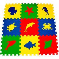 Мягкий пол универсальный Eco-Cover Морские животные 33х33 см 9 мм 9 деталей