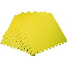 Мягкий пол универсальный 50*50 см 14 мм желтый 4 шт