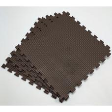 Коврик-пазл 50х50х1 см черный 4 детали