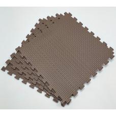 Коврик-пазл 50х50х1 см коричневый 4 детали