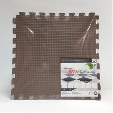 Коврик-пазл EVA Kids 50х50х1 см коричневый 4 детали