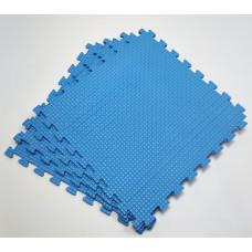 Коврик-пазл 50х50х1 см голубой 4 детали