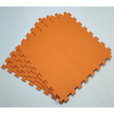 Коврик-пазл 50х50х1 см оранжевый 4 детали
