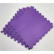 Коврик-пазл 50х50х1 см фиолетовый 4 детали