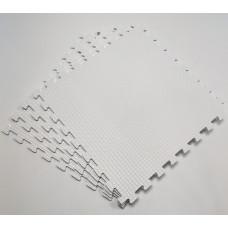 Коврик-пазл  50х50х1 см белый 4 детали