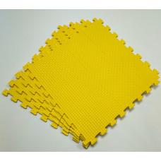 Коврик-пазл 50х50х1 см желтый 4 детали