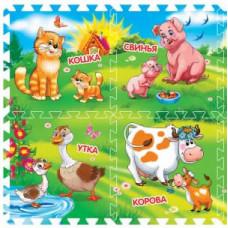 Коврик-пазл Играем вместе Домашние животные 8 деталей