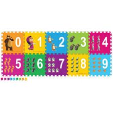 Коврик-пазл Играем вместе Маша и Медведь с цифрами 10 деталей