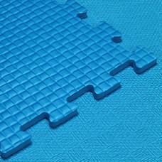 Мягкий пол KIDMAT 100*100*1 см синий