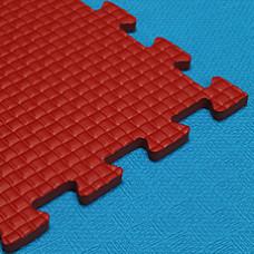 Мягкий пол KIDMAT 100*100*1 см красный
