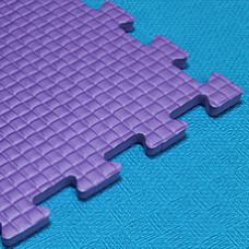 Мягкий пол KIDMAT 100*100*1 см фиолетовый