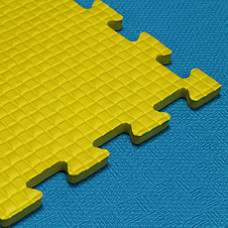 Мягкий пол KIDMAT 100*100*1 см желтый