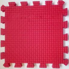 Мягкий пол 33*33*0,9 см красный ( 9 дет.)