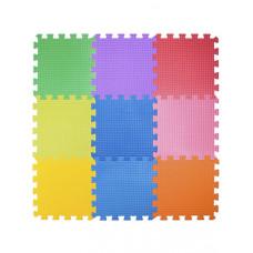 Мягкий пол 33*33*0,9 см радуга ( 9 дет.)