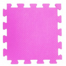 Мягкий пол 33*33*0,9 см розовый ( 9 дет.)