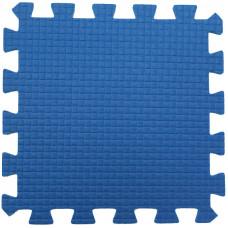 Мягкий пол 33*33*0,9 см синий ( 9 дет.)