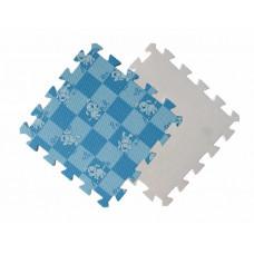 Детский мягкий пол MTP-30104 голубая клетка с собачками