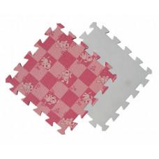 Детский мягкий пол MTP-30105 розовая клетка с собачками