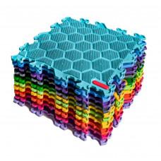 Модульный коврик-пазл SPORTO.ONE Ассорти 16 элементов