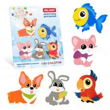Набор игрушек для ванной мини-коврики VALIANT ДОМАШНИЕ ЖИВОТНЫЕ 5 шт VAL MIX5S3